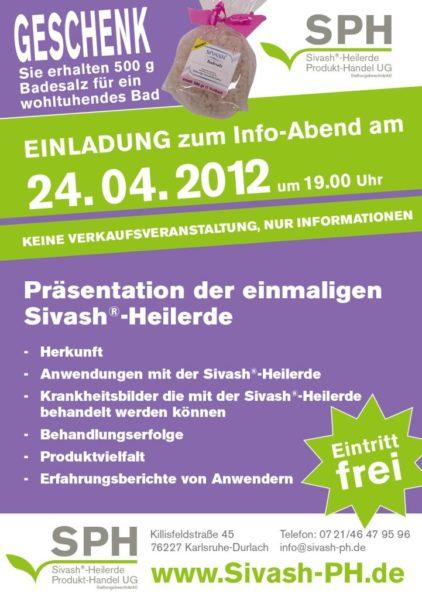 Einladung Infoabend Sivash-Heilerde 24.04.2012
