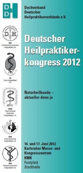SIVASH auf dem Deutschen Heilpraktikerkongress 2012 in Karlsruhe